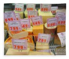 Cheese Display Fleece Blanket