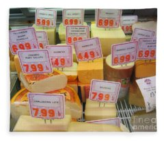 Cheese Display Fleece Blanket