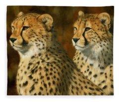 Cheetah Brothers Fleece Blanket