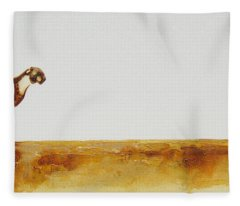 Cheetah Race - Original Artwork Fleece Blanket