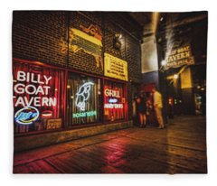 Cheezborger Cheezborger At Billy Goat Tavern Fleece Blanket