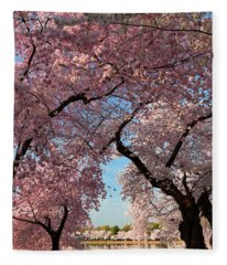 Cherry Blossoms 2013 - 024 Fleece Blanket