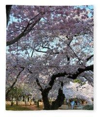 Cherry Blossoms 2013 - 044 Fleece Blanket