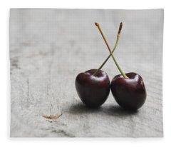 Cherry Duo Fleece Blanket