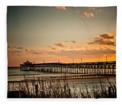 Cherry Grove Pier Myrtle Beach Sc Fleece Blanket