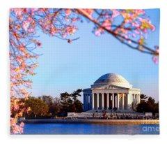 Cherry Jefferson Fleece Blanket