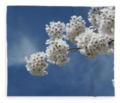 Cherry Tree Fleece Blanket