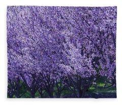 Cherry's In Bloom Fleece Blanket