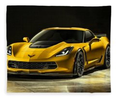 Chevrolet Corvette Z06  Fleece Blanket