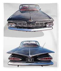 Chevrolet Impala 1959 Front And Rear Fleece Blanket