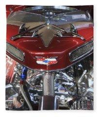 Chevy Engine Fleece Blanket