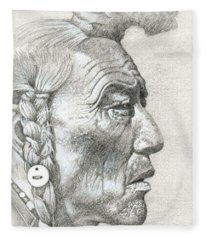 Cheyenne Medicine Man Fleece Blanket