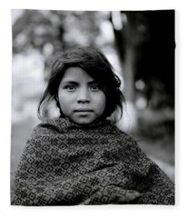 Chiapas Girl Fleece Blanket