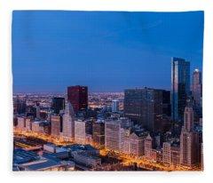 Chicago Dawn Fleece Blanket