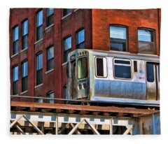 Chicago El And Warehouse Fleece Blanket