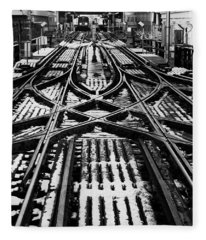 Chicago 'l' Tracks Winter Fleece Blanket