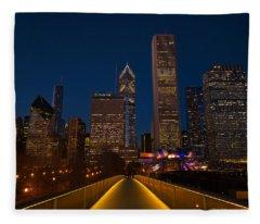 Chicago Lights Fleece Blanket