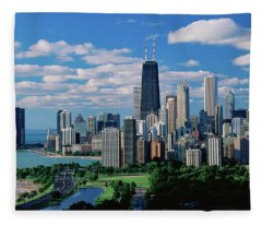 Chicago, Lincoln Park & Diversey Harbor Fleece Blanket