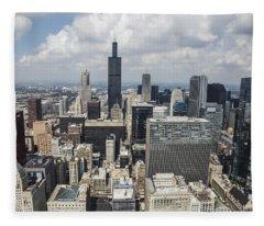 Chicago Loop Aerial Fleece Blanket