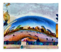 Chicago Reflected Fleece Blanket