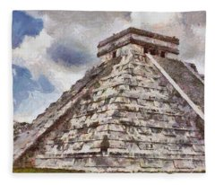Chichen Itza Fleece Blanket