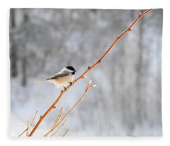 Chickadee Fleece Blanket