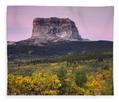Chief Mountain Sunrise Fleece Blanket