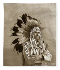 Chief Red Eagle Carmel California Circa 1940 Fleece Blanket
