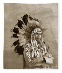 Chief Red Eagle Carmel California Circa 1940 Fleece Blanket