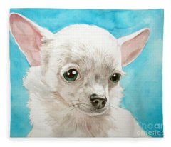 Chihuahua Dog White Fleece Blanket