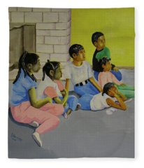 Children's Attention Span  Fleece Blanket