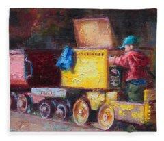 Child's Play - Gold Mine Train Fleece Blanket