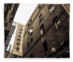 Chinatown Alley Fleece Blanket