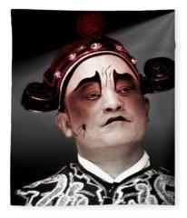 Chinese Opera   Actor Fleece Blanket