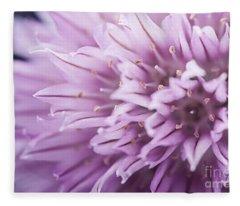 Chives Flower Fleece Blanket