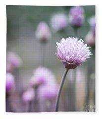 Chives Flowering I Fleece Blanket
