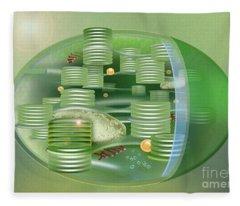 Chloroplast - Basis Of Life - Plant Cell Biology - Chloroplasts Anatomy - Chloroplasts Structure Fleece Blanket