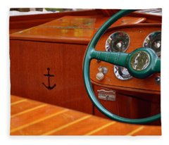 Chris Craft Cockpit Fleece Blanket