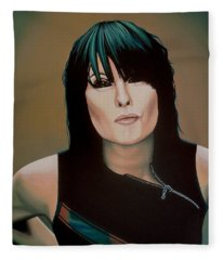 Chrissie Hynde Painting Fleece Blanket