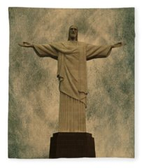 Christ The Redeemer Brazil Fleece Blanket