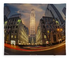 Christmas At Rockefeller Center Fleece Blanket