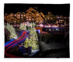 Christmas At The Montage Fleece Blanket