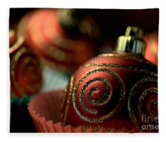 Christmas Bauble Cupcakes Fleece Blanket