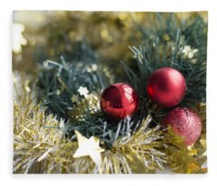 Fleece Blanket featuring the photograph Christmas Baubles by Jocelyn Friis