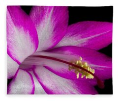 Christmas Cactus Fleece Blanket
