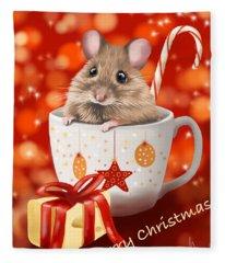 Christmas Cup Fleece Blanket
