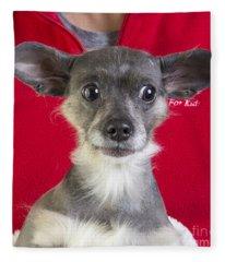 Christmas Dog Fleece Blanket