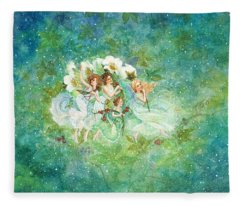 Christmas Fairies Fleece Blanket