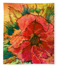 Christmas Flower Fleece Blanket