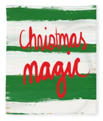Christmas Magic - Greeting Card Fleece Blanket